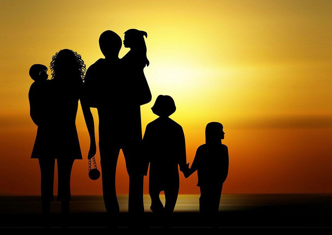 Famille - Silhouette